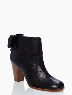 Kate Spade Lanise boots. Love the look of these booties and love the bow detail!