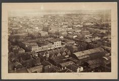 """""""Looking North-west showing Swanston and Bourke Streets, with Post Office. Melbourne Victoria, Post Office, Great Photos, North West, Paris Skyline, Australia, Street, Travel, Viajes"""