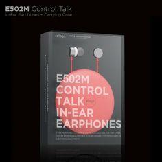 E502M Control Talk In-Ear Earphones : Red - White