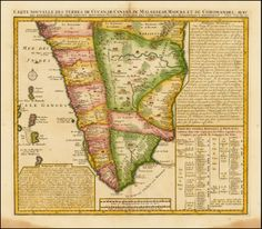 Chatelains map of South India 1719 India Map, Kerala India, South India, I Think Map, Vintage Travel, Vintage World Maps, World History Lessons, Travel Illustration, Antique Maps