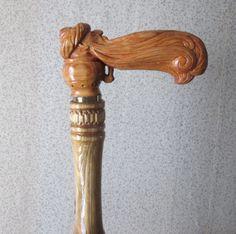 Резное.ру - трость лампа Аладдина, Материал: трость=ель рукоятка=ильм, Размеры…
