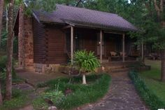 If you're looking for a quiet getaway, book the Blue River Cabin in Milburn. This quaint and rustic cabin is conveniently located on the banks of the gorgeous Blue River about halfway between Oklahoma City and Dallas.