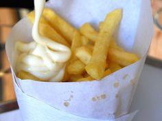 gourmandises du littoral : cornet de frite mayo