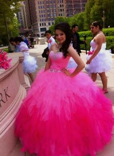 29c3ec90fbd3 2016 Sexy Pink Gradient Lace-up Back Quinceanera Dresses Debut Gowns  Ruffles Crystal Puffy Top Backless Sweetheart Vestidos 15 Anos Debutante Sweet  16 Dress ...