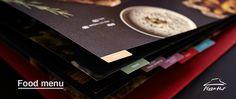 Food menu design for Pizza Hut