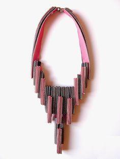 Piano Zipper Necklace. $220.00, via Etsy.