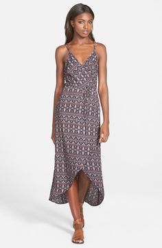 ASTR+Wrap+Print+Front+Tie+Waist+Dress+available+at+#Nordstrom