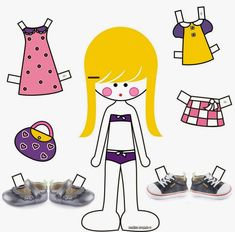Activities For Kids, Crafts For Kids, Arts And Crafts, Fabric Crafts, Paper Crafts, Paper Dolls Printable, Building For Kids, Vintage Paper Dolls, Preschool Math