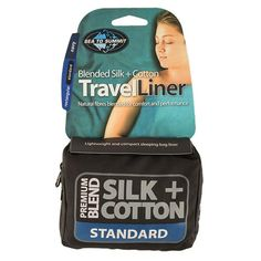 "Sea to Summit Premium Blend Silk/Cotton Rectangular Standard Travel Liner, 73 x 36 inch , Navy Blue. 73"" x 36"". Ideal as hygienic travel sheets. Improves thermal performance of sleeping bags. Lightweight, super compact. Machine washable & colorfast."