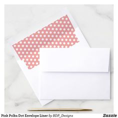 Shop Pink Polka Dot Envelope Liner created by BDP_Designs. Pink Envelopes, Wedding Envelopes, Envelope Box, Envelope Liners, Pumpkin First Birthday, Pink Birthday, Pink Polka Dots, Folded Cards, Pink Girl