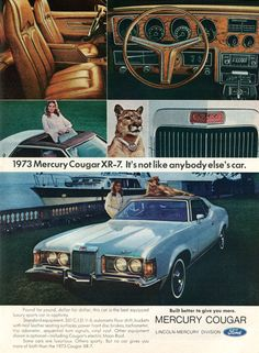 All sizes | 1973 Mercury Cougar Advertisement Newsweek February 5 1973 | Flickr - Photo Sharing!