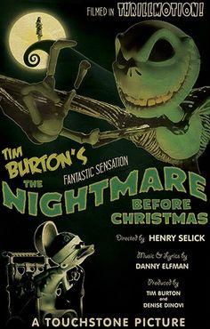 The Nightmare Before Christmas  Retro Movie Poster by EhronAsher