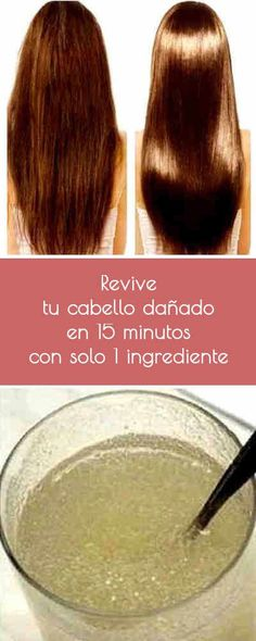 Relive your damaged hair in 15 minutes with only 1 ingredient .- Revive tu cabello dañado en 15 minutos con ¡solo 1 ingrediente Relive your damaged hair in 15 minutes with only 1 ingredient! Beauty Secrets, Beauty Hacks, Curly Hair Styles, Natural Hair Styles, Cabello Hair, Tips Belleza, Beauty Recipe, Hair Care Tips, Damaged Hair