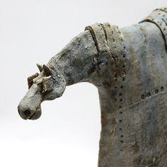 Troyan 2.21/ Ceramic Sculpture/ Unique Ceramic Figurine