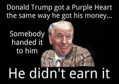 The only thing Trump has legitimately earned is the distrust of the American people.