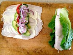 So cute and smart - turkey roll up sandwiches with no bread