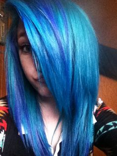 if I weren't so chicken I would totally dye my hair blue someday