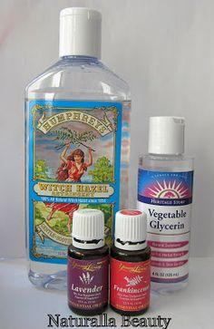 Naturalla Beauty: DIY Witch Hazel & Glycerin Toner