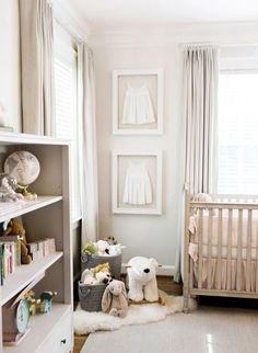 Blush and Grey Nursery. These parents were going for a really soft calming and neutral nursery and they achieved it exquisitely! Baby Bedroom, Baby Room Decor, Nursery Room, Girls Bedroom, Room Baby, Baby Rooms, Bedroom Curtains, Bedrooms, Baby Girl Nurseries