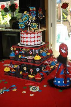 Cupcakes Decorados de Hombre Araña