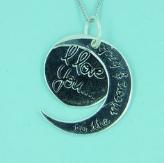 Sterling Silver Necklace I love You To The Moon And Back