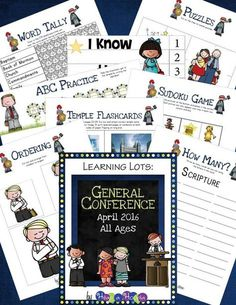Get this FREE General Conference activity pack for children of all ages.