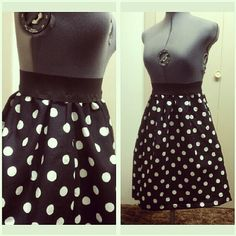 High Waisted Polka Dot Skirt Red Pink Black other by Skirtsey, $30.00 Pin Up Rockabilly Fashion Style Sewing Handmade Cute