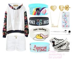 """""""Be Unique"""" by unique-awesome-xoxo ❤ liked on Polyvore featuring WithChic, HVBAO, Sydney Evan, BERRICLE, SANRIO, Current/Elliott, Skullcandy and OTM"""