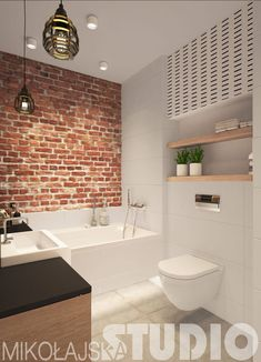 wie die unkomplizierte Toilette like the no fuss toilet - Marble Bathroom Dreams Brick Bathroom, Red Bathroom Decor, Bathroom Interior, Bathroom Remodeling, Bathroom Storage, Bathroom Ideas, Best Bathroom Designs, Bathroom Design Small, Modern Bathroom