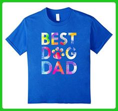 Kids Best Dog Dad T-Shirt Attractive Watercolor Paint Art Paws 6 Royal Blue - Relatives and family shirts (*Amazon Partner-Link)