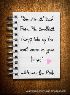 Journal filled with awesome quotes. Winnie the Pooh Quote | A Girl's Guilty Pleasures