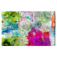 Hand-stretched canvas print with a multicolor abstract motif. Made in the USA.  Product: Canvas printConstruction Ma...