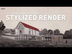 Revit-Photoshop | No Render - Stylized Visual - YouTube