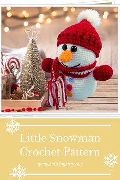 Make Christmas really special with this cute Christmas crochet project. The Little snowman is an easy to follow crochet pattern that will guide you through the exciting process of creating a funny Christmas doll. This amigurumi snowman definitely will bring a lot of joy to your little ones. #crochetchristmas #crochetsnowman #amigurumisnowman #amigurumichristmas #crochetchristmasdecor #christmaspatterns #diysnowmantoy Crochet Snowman, Diy Snowman, Crochet Gifts, Crochet Toys, Free Crochet, Crochet Decoration, Handmade Christmas Decorations, Unique Crochet, Crochet Hook Sizes