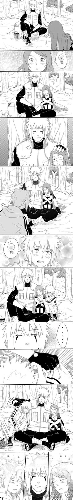 I love how he just picks up Minato like a Wolf picking up her pup and then sets him down on the OTHER side