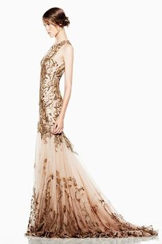 Gold Alexander McQueen Gown