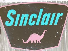 Old Sinclair gas station signs by jefftowell, via Flickr
