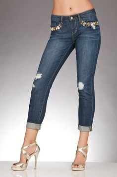 Boston Proper Embellished boyfriend jean #bostonproper