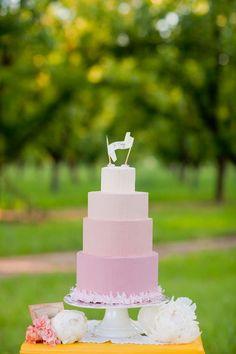 ombre wdding cake