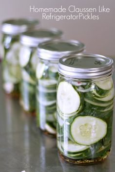 Homemade Claussen like Refrigerator Pickles