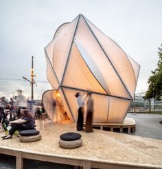 From the architect. ENDESA WORLD FAB CONDENSER is a thermodynamic prototype, a bioclimatic dome now installed in the currently changing Glorias Square (Barcelona) on the occasion of the BCN Fab10 congress (the tenth international conference on digital fabrication).