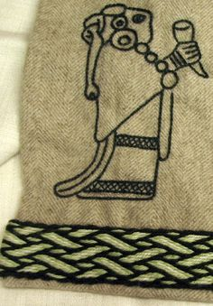 viking apron with Valkyrie embroidery