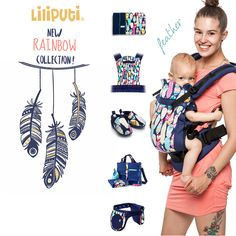 """Here's """"Feather"""", the newest member of the collection!  Colorful beauty, isn't it? :) Check it out HERE: http://www.liliputibabycarriers.com/collection-feather"""