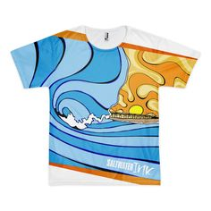 Psychedelic Wave Tee   All Over Tee -