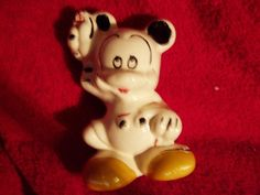 """Collectors Antique - 1947 Vintage Ceramic Mickey Mouse """"Piggy"""" Bank Made In USA"""
