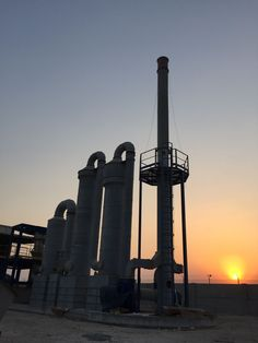 Qatar... medical waste incinerator fumes treatment... commissioned  When the sun goes down... medical waste incinerator fumes treatment commissioned!!!! Take a look!