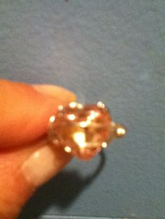 I made this pretty ring out of a earring!
