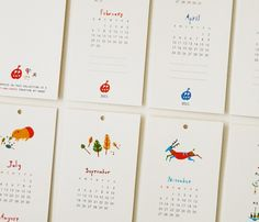 30 Creative Colorful Inspiring 2012 Calendar Designs Creative