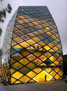 Dis anyone else start singing the spongebob squarepants song?  Prada Store in Tokyo • architects: Jacques Herzog / Pierre de Meuron • photo: TRUE 2 DEATH on Flickr