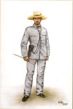 Oficial guerra de Cuba 1895-1898 Army Uniform, Military Uniforms, The Spanish American War, Brothers In Arms, Rough Riders, Military Modelling, World War One, Napoleonic Wars, Martial